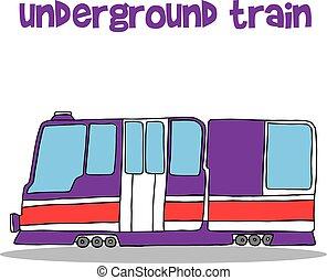 Collection transportation of underground train