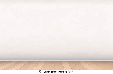 Stucco wall and wooden floor interior vector background