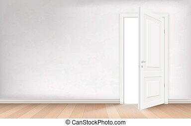 Light through open door - Light illuminates the empty room...