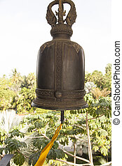 Ancient bronze bell - The ancient bronze bell hangs and...