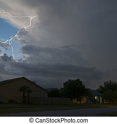 Light Show - Lightning show in a local neighborhood just...