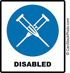 Health crutches icon flat. Illustration isolated vector sign...