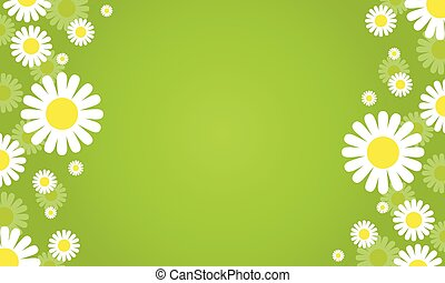 Flower spring green background vector