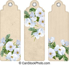 Bookmark with White Flowers