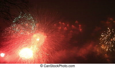 Multiple Fireworks Explosion - Fireworks Display With Lots...