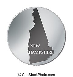 New Hampshire State Coin - A New Hampshire state coin...