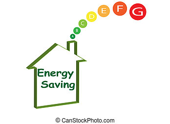 energy-saving-house - a green energy house with the ratings...
