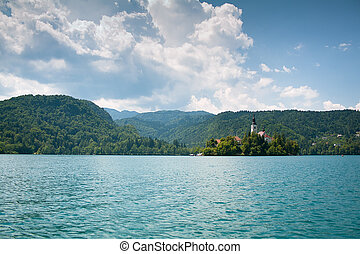 Landscape with Lake Bled