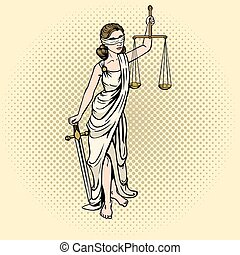 Themis pop art vector illustration - Themis pop art style...