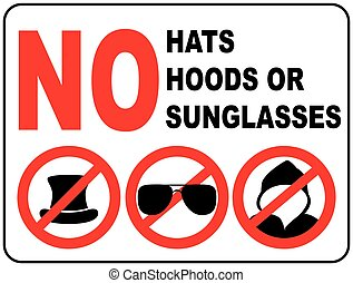 No sunglasses sign on white background. - No aviator...