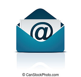 Email sign Vector - Envelope Email sign isolated on white...