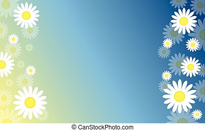 Background of spring style vector art