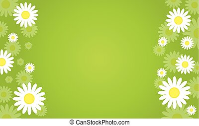 Background of spring vector art