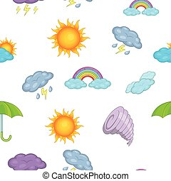 Weather forecast pattern, cartoon style