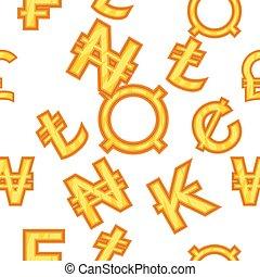 Money pattern, cartoon style - Money pattern. Cartoon...