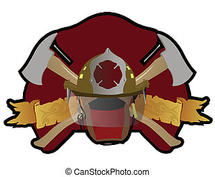 Firefighter - A Firefighter patch with symbols. Vector file...