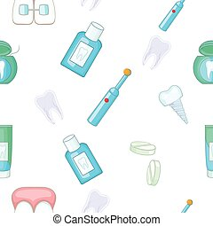 Dental treatment pattern, cartoon style