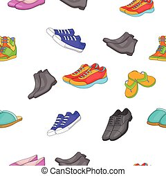 Foot care pattern, cartoon style - Foot care pattern....
