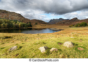 Blea Tarn in Cumbria - Autumn at Blea Tarn near Little...