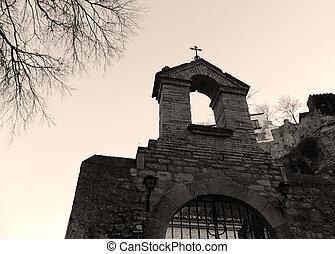 terror cementery entrance
