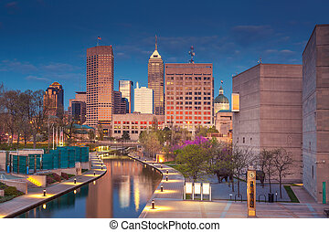 Indianapolis. - Cityscape image of downtown Indianapolis,...