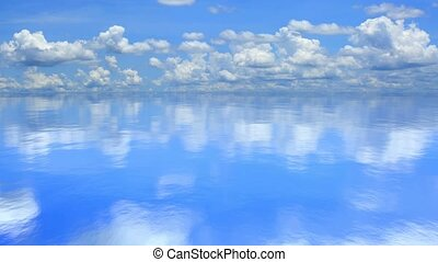 Calm lake, 3D animation - 3D animation of the calm lake or...