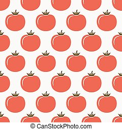 tomatoes seamless pattern. vector illustration - eps 8