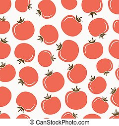 red tomatoes seamless pattern. vector illustration - eps 8