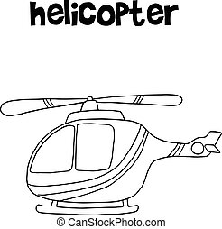 Helicopter vector art illustration collection
