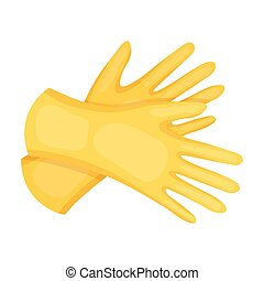 Rubber gloves icon in cartoon style isolated on white...