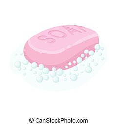 Soap icon in cartoon style isolated on white background....