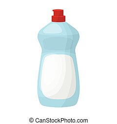 Dishwashing soap icon in cartoon style isolated on white...