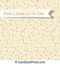 vector pearls seamless pattern on color background - vector...