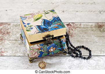 Blue Trinket Box - A gorgeous hand made trinket box with...