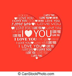 Heart with text I love you inside