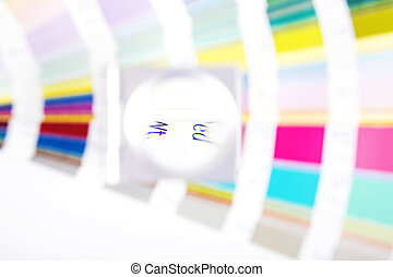 Lens. Prepress blur concept - Lens and pantone. Design and...