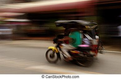 triciclo, transporte
