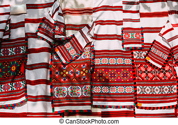 Slavic Traditional Pattern Ornament Embroidery. Culture of...