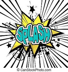 Lettering splash comic text sound