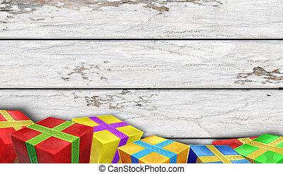 老,  Whiteboard, 多种顏色, 禮物, 背景, 說明,  3D