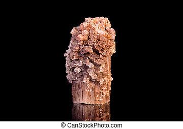 piedra, mineral, aragonite, negro, curación, piedra...