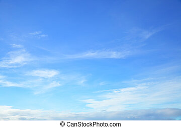 Almost clear blue sky only, natural photo background