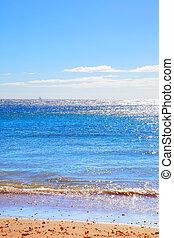 Calm Atlantic ocean seascape - Sandy beach on Tenerife,...