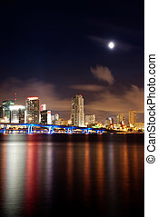 Night view of the Miami skyline - Miami skyline at night...