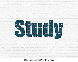 Learning concept: Study on wall background
