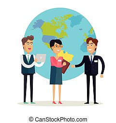 Business People Characters Vector in Flat Design. - Business...