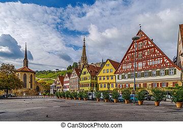 Marktplatz square, Esslingen am Neckar, Germany - View of...