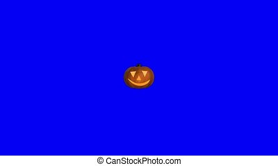 Pumpkin halloween spooky trick or treat face carved...