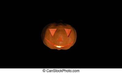 Pumpkin halloween spooky trick or treat face carved haloween punkin