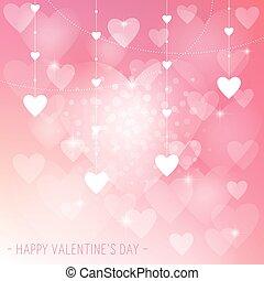 Valentine's Day Love Heart Background